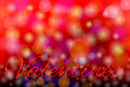 concept Valentine day with text and bokeh background. vector illustration