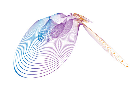 wave lines wavy abstract colorful for brochure and website design on white background. vector illustration Illustration