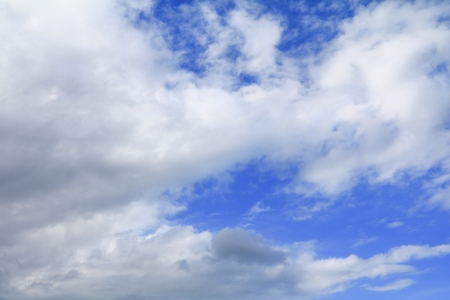 blue sky with cloud and raincloud, the art of nature beautiful and copy space for add text
