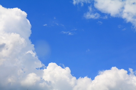 blue sky with big cloud and raincloud, art of nature beautiful and copy space for add text