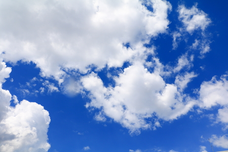 Soft blue sky with  cloud art of nature beautiful and copy space for add text Stock Photo