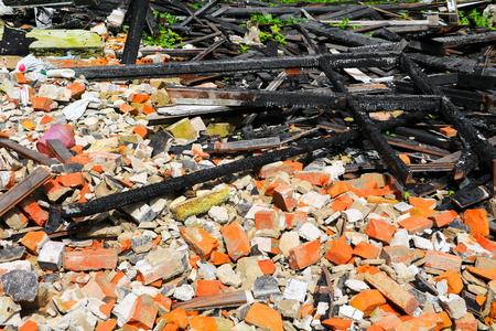 fire home scrap detail  wood conflagration Banque d'images
