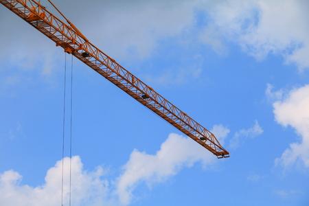 crane in construction building site Stock Photo