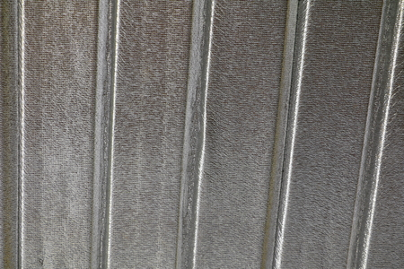 Corrugated metal roof texture for background