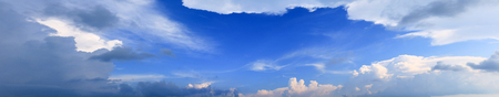 panorama sky and storm cloud summer time beautiful background Stock Photo