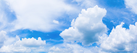 panorama sky and cloud in summer time with formation storm cloudy beautiful art nature background Stock Photo