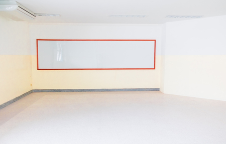 empty whiteboard in the classroom Under construction new To study Stok Fotoğraf