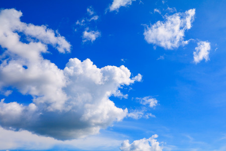 blue sky bright and big cloud beautiful summer. art of nature with copy space for add text