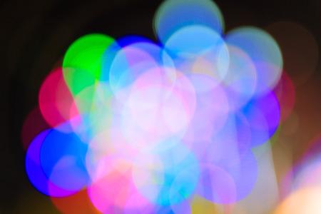Abstract circular bokeh background of Christmaslight