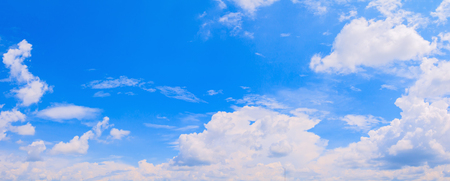 panorama sky and cloud in summer time with formation storm beautiful art nature background