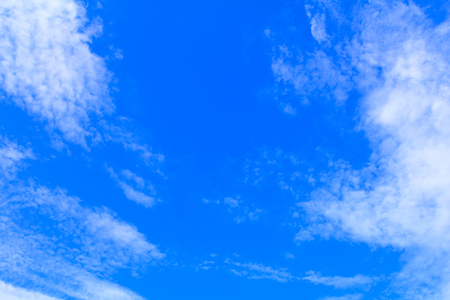 sky and fluffy cloud in summer time beautiful art nature background