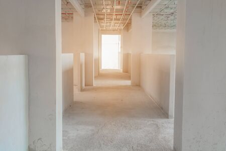 construction site interior building plan development on housing with copy space add text Banque d'images