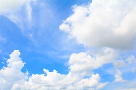 blue sky vivid with the cloud art of nature beautiful and copy space for add text