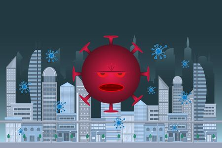 Coronavirus Closed city prophylactic concept