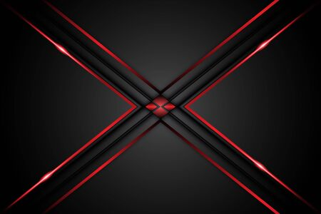 abstract metal carbon texture modern with arrow red and black contrast on dark mesh design futuristic technology background. vector illustration Illustration