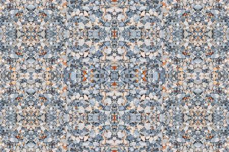 stone small gravel floor seamless background Archivio Fotografico