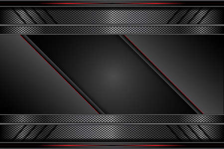 metal red line and black dark on metallic futuristic technology abstract modern background. design vector illustration