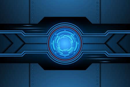 abstract interface futuristic door technology. background vector illustration