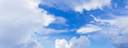 panorama sky and cloud in summertime beautiful background