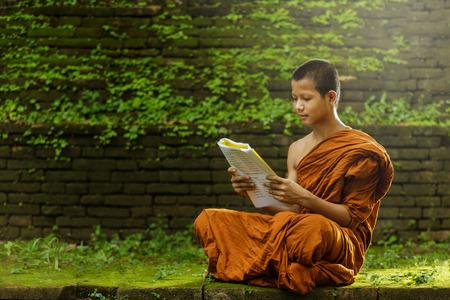 学習初心者の修道士 写真素材