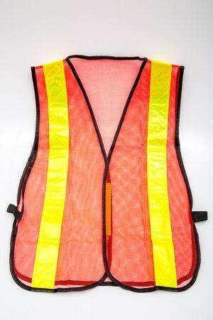 emergency vest: Emergency safety vest isolated on white Stock Photo