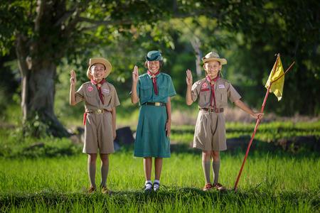 Boy Scout giuramento Archivio Fotografico - 62508533