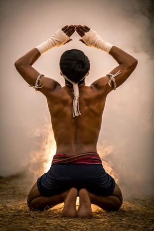 ムエタイ、ボクシング、ムエタイの格闘技