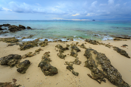 stones beach in phuket, Similan islands, thailand