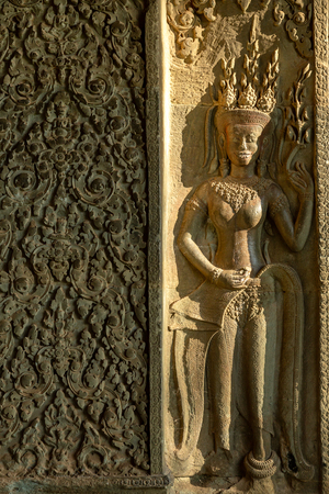 Fairy relief in Angkor Wat, Siem reap in Cambodia.