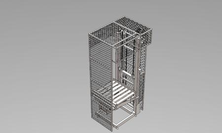 3D LIFTER CONVEYOR IN FACTORY.