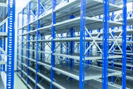 Shelves, Inside the spare room With shelves prepared for storing auto spare parts, spare room, Factory warehouse spare parts. Stock fotó