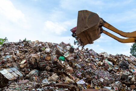 The dump Recycling industry. Business Recycling.Waste separation.