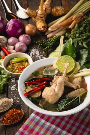 [Thai Esan food] Boiled chicken, Thai Esan local food, Thailand Reklamní fotografie