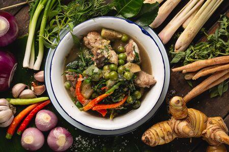 [Thai Esan food] Curry pork Thai Curry, Thai Esan local food, Thailand