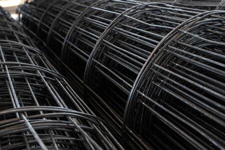 Prefabricated steel for pouring reinforced concrete floors Reklamní fotografie
