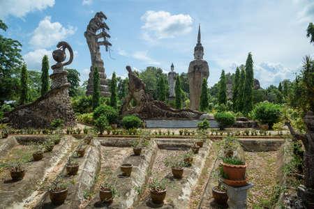 SALAKAEOKU, Tourist attraction Kaew Ku Pavilion in Nongkhai Thailand Imagens