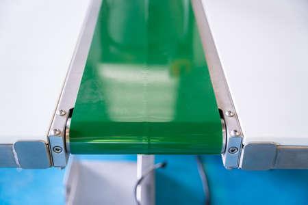 new Green conveyer belt close up