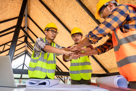 teamwork construction, Group power of cooperation in the construction business.To succeed in developing sustainable partnerships, The concept of cooperation and unity