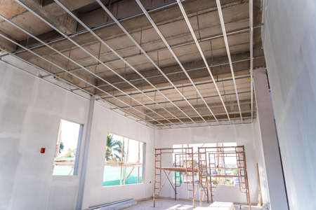 The building structure construction ceiling work
