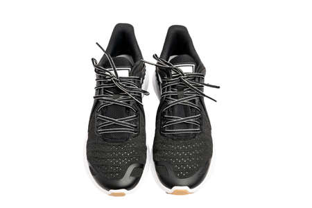Sport shoes, black sport shoes isolated on white background