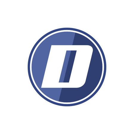 D letter icon Ilustracja