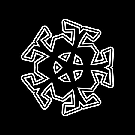 Wavy, waving - zigzag radial lines. Abstract monochrome background vector illustration.