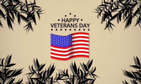 design veterans day in the united states in november with a very simple design