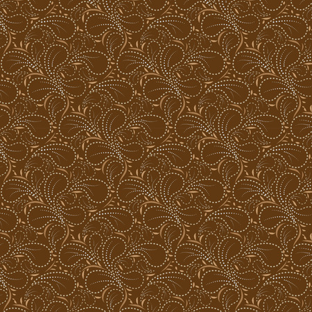 dotted line: Brown background with Flower pattern dotted line