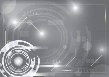 fondo tecnologia: tecnolog�a de fondo gris con dise�o Vectores