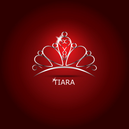 beauty queen: Decorative tiara beautiful shining, vector illustration. Illustration