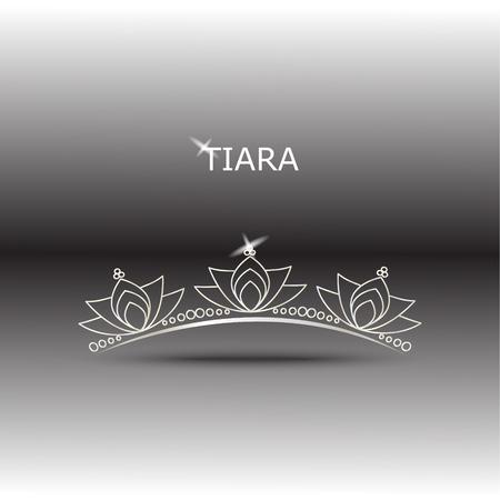 beauty pageant: Decorative tiara beautiful shining, vector illustration. Illustration