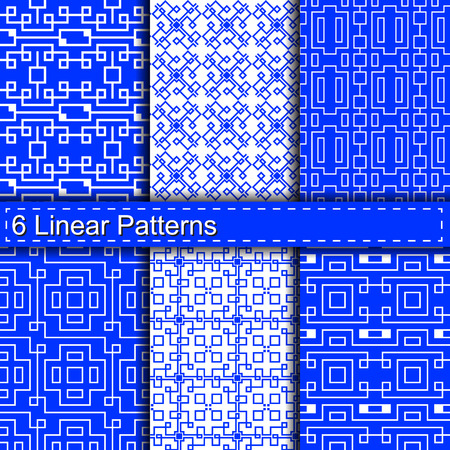 swatches: Set of six linear patterns seamless.pattern swatches included.