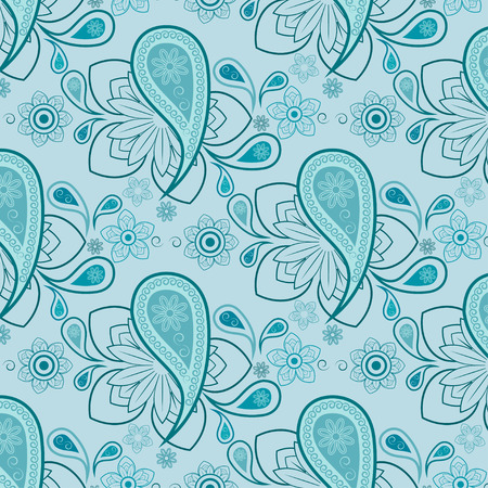 tessellation: seamlessly floral pattern, swatch included