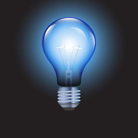 blue bulb: Light bulb on blue background, vector illustration. Illustration